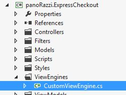 Creating custom view engine in nopCommerce plugin
