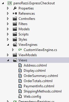 Views folder of a plugin, with the CSHTML marked as Content instead of Embedded Resource