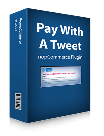 Picture of Pay with a Tweet - nopCommerce Social Sharing Discount Plugin