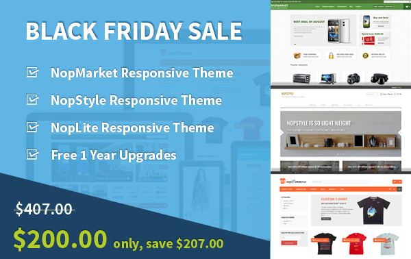 nopCommerce theme sales - Black Friday 2014