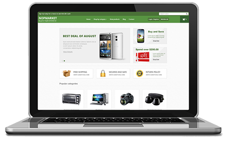 NopMarket - responsive nopCommerce theme suitable for marketplace, computer store, electronics store and home appliances store