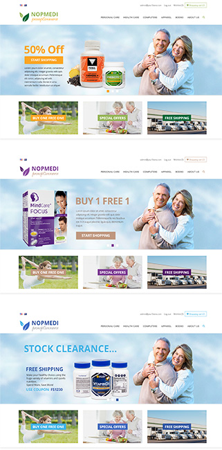 NopMedi Responsive  nopCommerce Theme - Multiple Designs